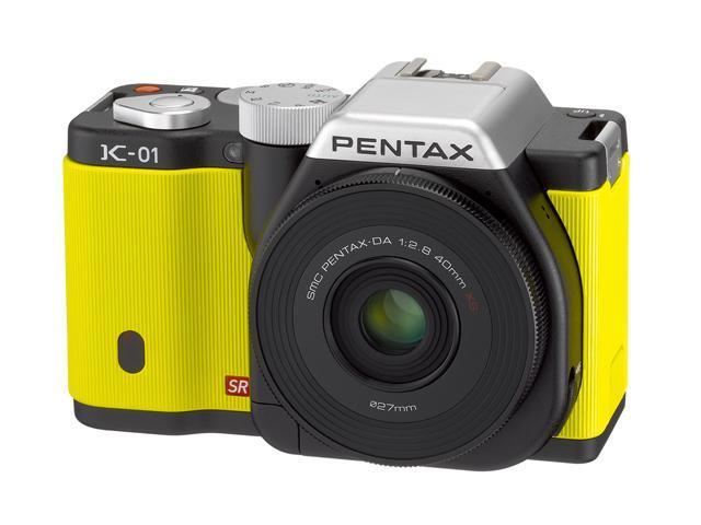 PENTAX K-01 (15342) Yellow Digital SLR Camera with DA 40mm XS
