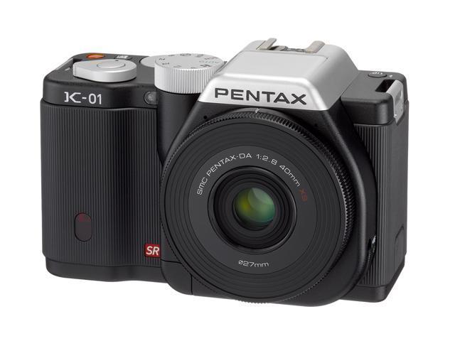 PENTAX K-01 (15274) Black Digital SLR Camera with DA L 18-55 & 50-200 Dual Lenses