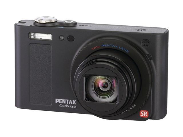 PENTAX OPTIO RZ18 Black 16 MP 25mm Wide Angle Digital Camera