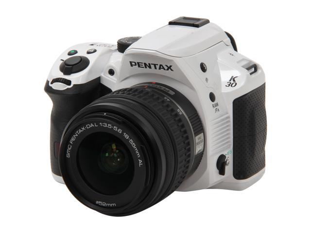 PENTAX K-30 Lens Kit (15679) White 16.3 MP Digital SLR with 18-55mm Lens