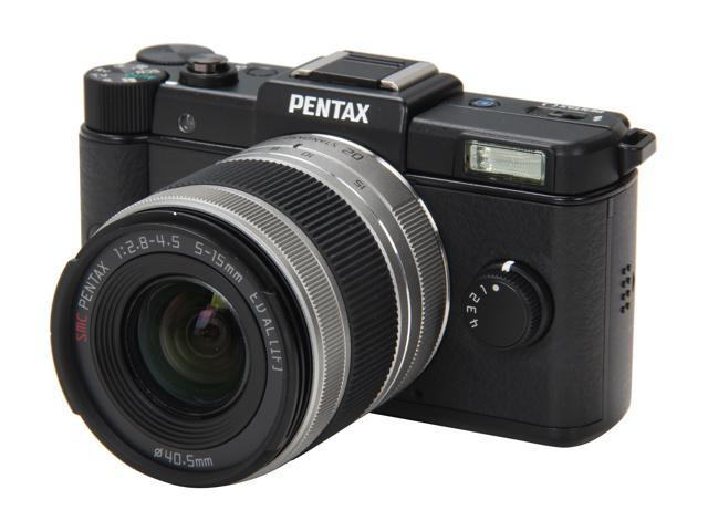 "PENTAX Q (15100) Black 12.4 MP 3.0"" 460K LCD Digital Camera with 02 Standard Zoom Lens"