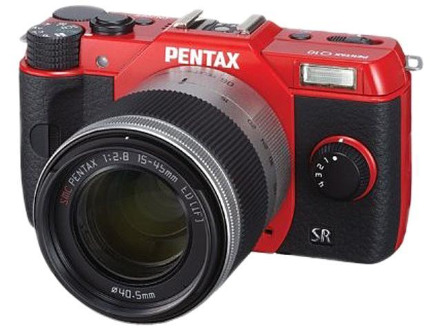 Pentax Q10 12.4 Megapixel Mirrorless Camera (Body with Lens Kit) - 5 mm - 15 mm - Red