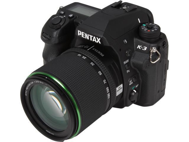 PENTAX K-3 15541 Black 23.35 MP Digital SLR Camera w/ DA 18-135mm WR Lens