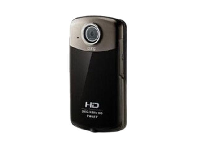 "DXG DXG-588VK Black 3.5"" LCD Full HD Twist Pocket Camcorder"