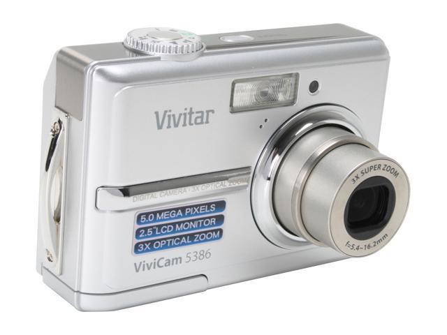 Vivitar 5386 Silver 5.0 MP 3X Optical Zoom Digital Camera