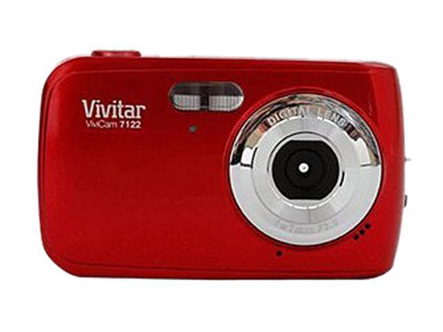 Vivitar ViviCam 7122 Red 7.1 MP Digital Camera