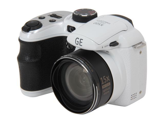 GE Power Pro X500-WH 16 MP with 15 x Optical Zoom Digital Camera