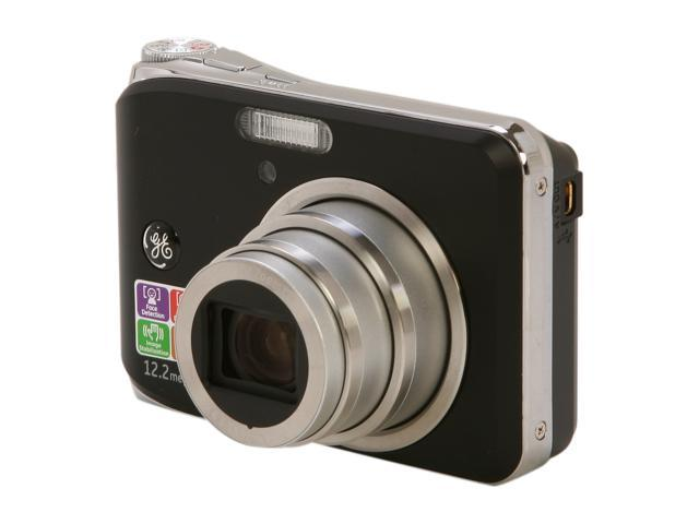 GE W1200 Black 12.2 MP Digital Camera