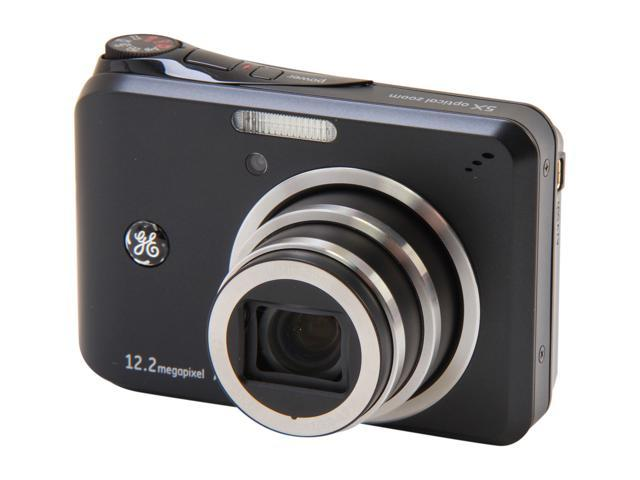 GE A1255 Black 12.2 MP 5X Optical Zoom Digital Camera