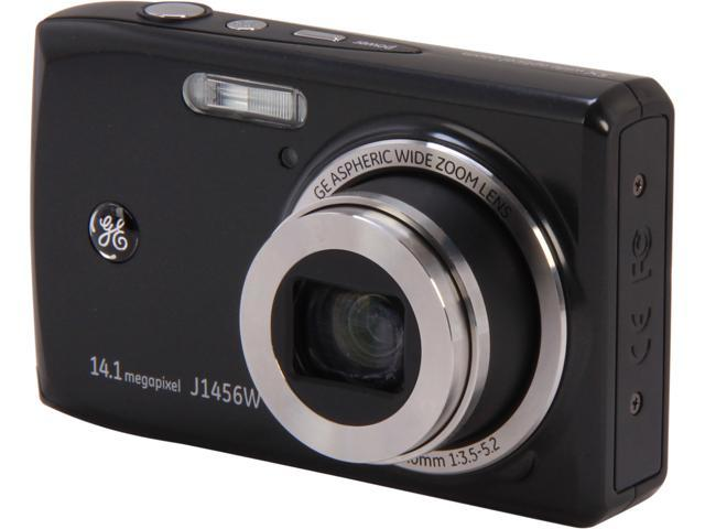 GE J1456W Black 14.4 MP 5X Optical Zoom Digital Camera