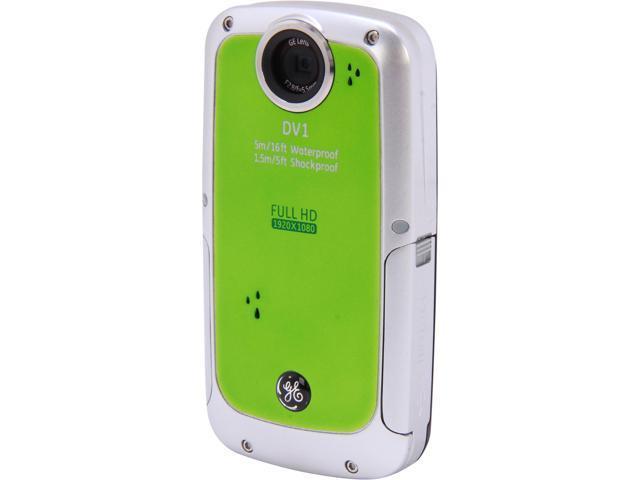 "GE DV1 Lime Green 2.5"" LCD Full HD Pocket Camcorder"