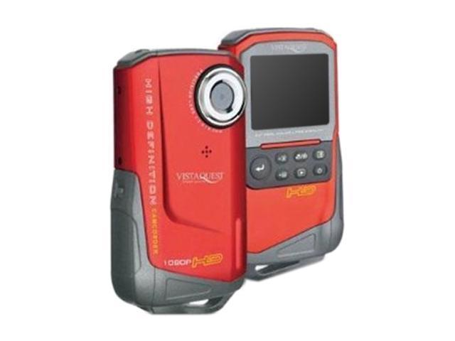 "VistaQuest DV-820 Red 2.0"" LCD Full HD Pocket Camcorder"