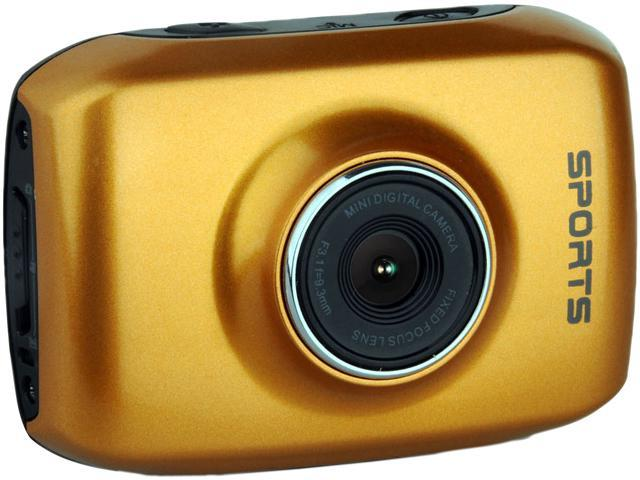 """Computer King Technology DVS1 Gold 2.0"""" LCD HD Action Camera with Touchscreen"""