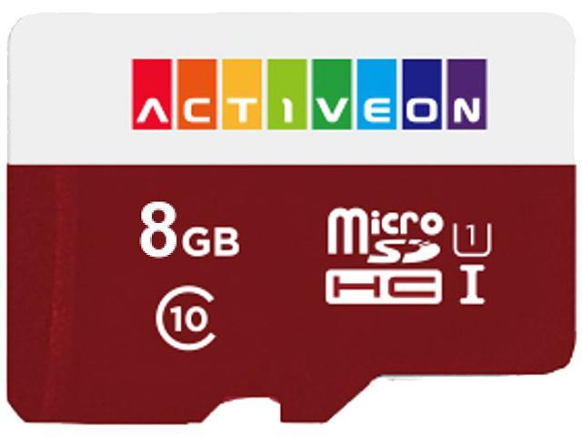 ACTIVEON AA09S08 8GB SD Card For Action Camera