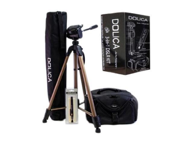 DOLICA PU0336 Bundle 3in1DSLR Kit - Lightweight Tripod with Shoulder Camera Case and Lens Pen
