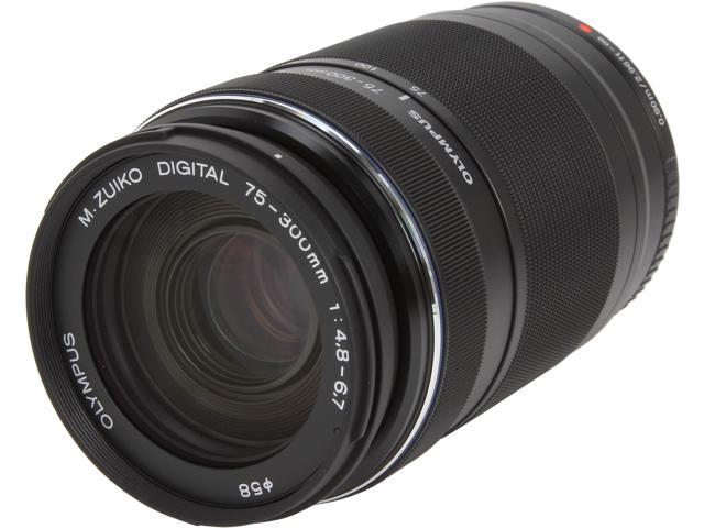 OLYMPUS V315040BU000 Compact ILC Lenses M.ZUIKO DIGITAL ED 75-300mm F4.8-6.7 II Lens Black