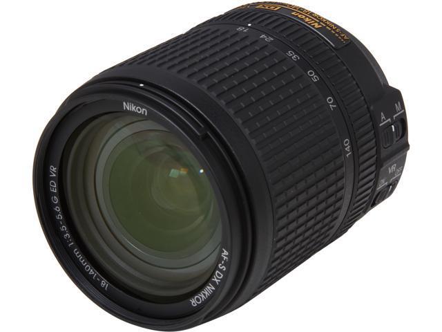 Nikon 2213 SLR Lenses AF-S DX NIKKOR 18-140mm f/3.5-5.6G ED VR Lens Black