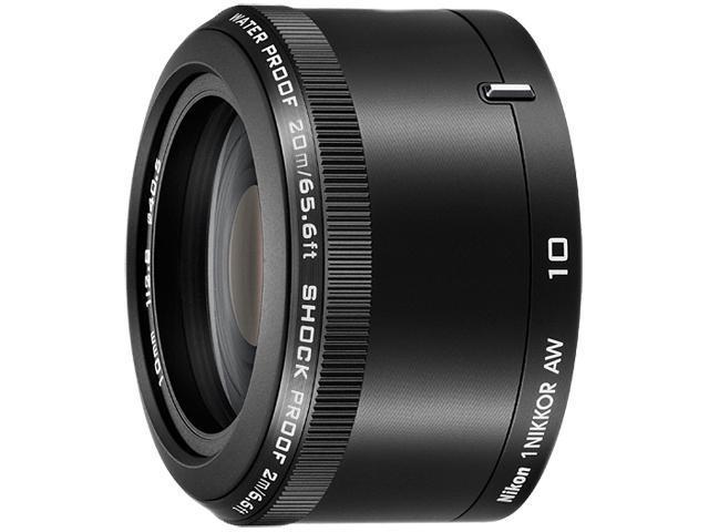 Nikon 3361 Compact ILC Lenses 1 NIKKOR AW 10mm f/2.8 Lens Black