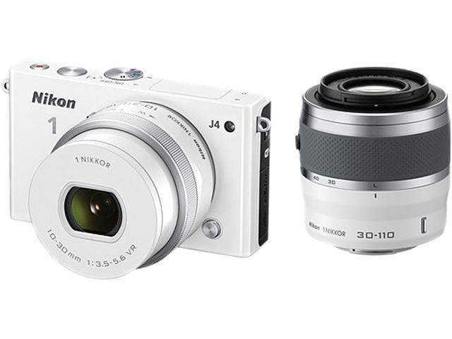 Nikon 1 J4 27687 White Camera with 10-30&30-110 mm lenses