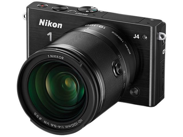Nikon 1 J4 27705 Black Camera with 10-100mm lens