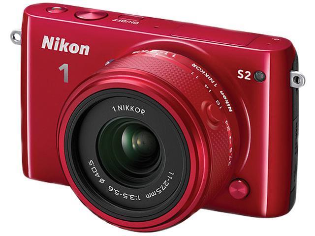 Nikon 1 S2 27706 Red 14.2MP 3.0