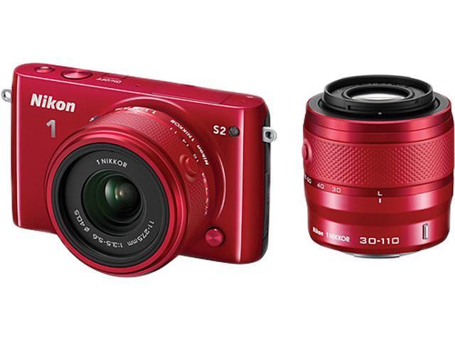 Nikon 1 S2 27699 Red 14.2MP 3.0