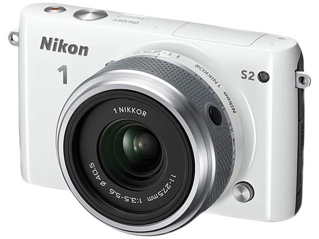 Nikon 1 S2 27697 White Camera with 11-27.5mm lens