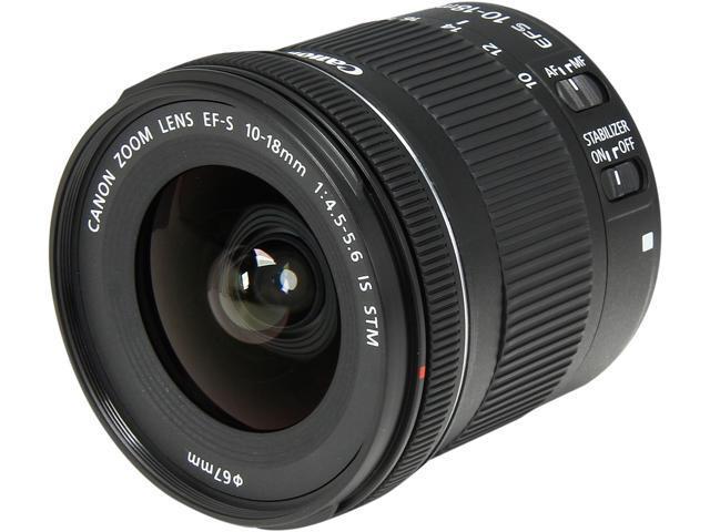 Canon 9519B002 SLR Lenses EF-S 10-18mm f/4.5-5.6 IS STM Lens Black
