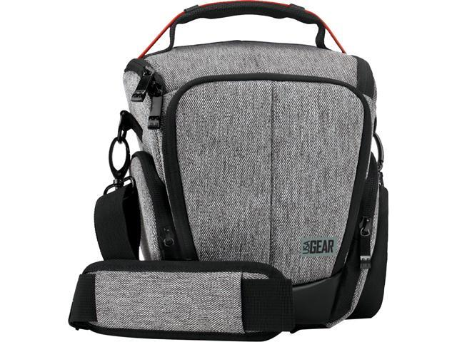 USA GEAR UTL Camera Case Bag with Smooth Streamlined Shape, Soft Cushioned Interior and Side Storage Pockets - Works Great for Sony Alpha A600, Olympus OM-D E-M10 II, Fujifilm X-A2 and More