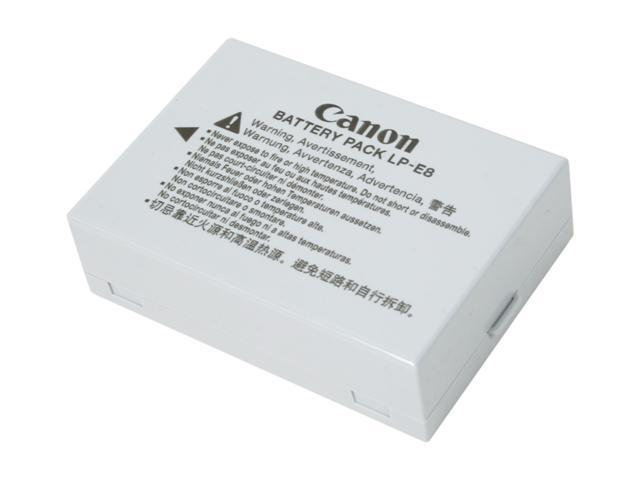 Canon LP-E8 (4515B002) 1-Pack 1120mAh Li-Ion Battery Pack Fits T2i, T3i, T4i and T5i