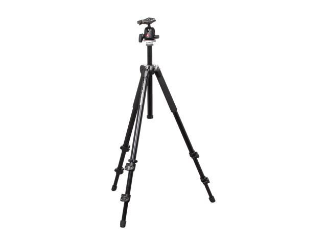 Manfrotto MK294A3-A0RC2 294 Aluminum Kit, Tripod 3 sections with Ball Head QR