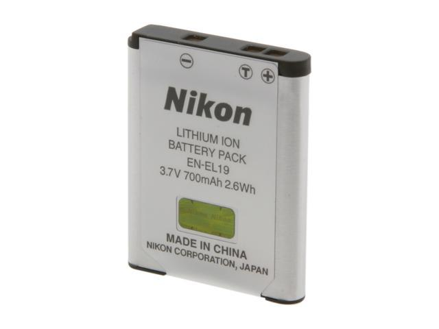 Nikon EN-EL19 1-Pack 700mAh Li-Ion Rechargeable Battery