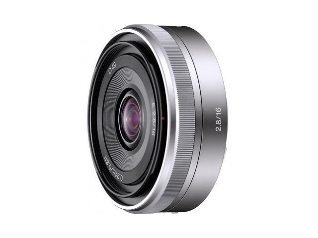 SONY SEL16F28 Compact ILC Lenses 16mm f/2.8 Wide-Angle Lens Silver