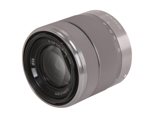 SONY SEL1855 Interchangeable Alpha E-mount 18-55mm F3.5-5.6 OSS Zoom Lens Silver
