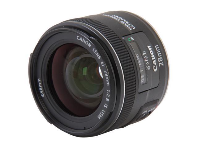 Canon 5179B002 EF 28mm f/2.8 IS USM Wide-Angle Lens Black