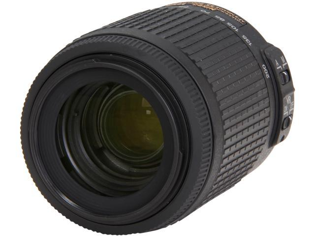 Nikon 2166 SLR Lenses AF-S DX VR Zoom-Nikkor 55-200mm f/4-5.6G IF-ED Lens Black