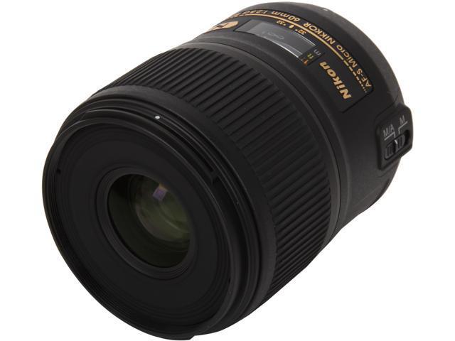 Nikon 2177 SLR Lenses AF-S Micro Nikkor 60mm f/2.8G ED Lens Black