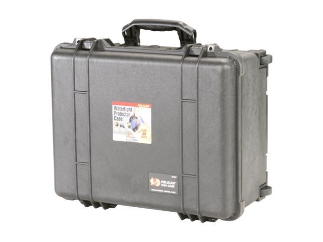PELICAN 1560-004-110 Black Case with Padded Dividers