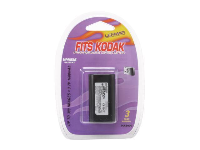 LENMAR DLK8000 1600mAh Li-Ion DC Battery For Kodak EasyShare Z612