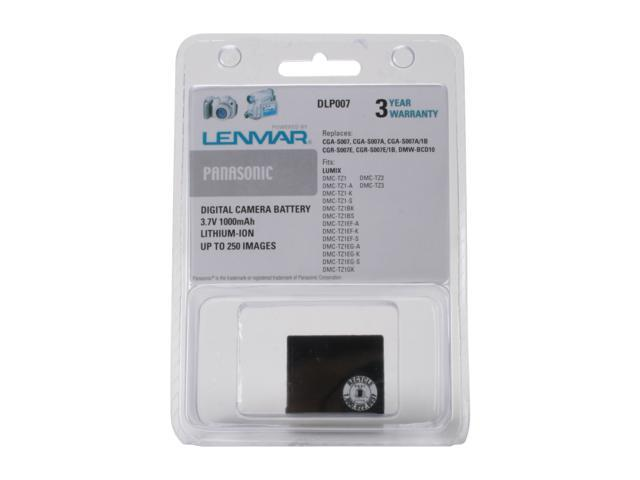 LENMAR DLP007 1000mAh Li-Ion Panasonic CGA-S007 Replacement Battery