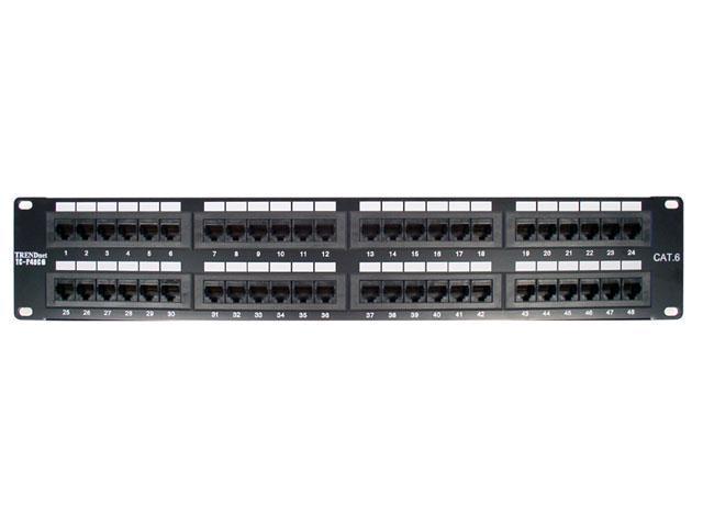 TRENDnet TC-P48C6 48-Port Cat 6 RJ-45 Rack Mount Patch Panel