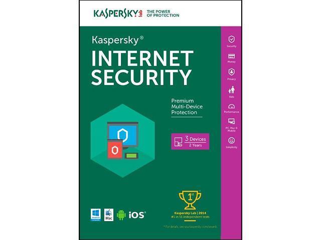 Kaspersky Internet Security 2016 - 3 PCs / 2 Years (Key Card)