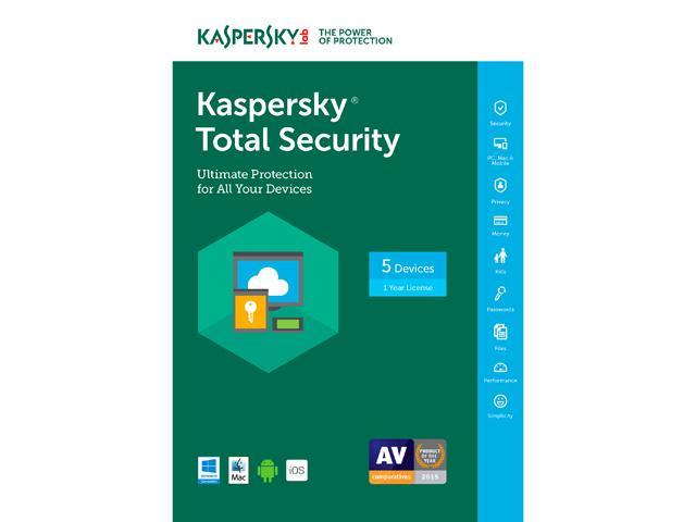 Kaspersky Total Security 2017 - 5 PCs (Key Card)