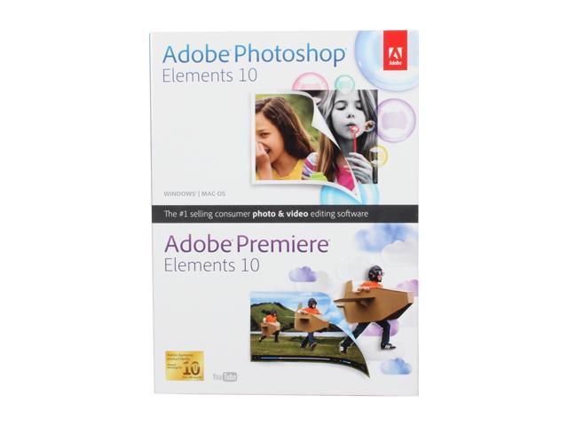 Adobe Photoshop Elements 10 & Premiere Elements 10 for Windows & Mac - Full Bundle Version