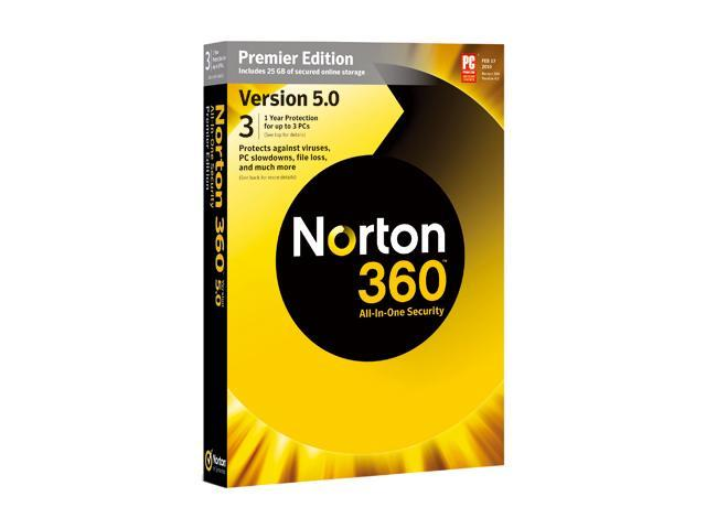 Symantec Norton 360 Premier 5.0 1-User/3PCs
