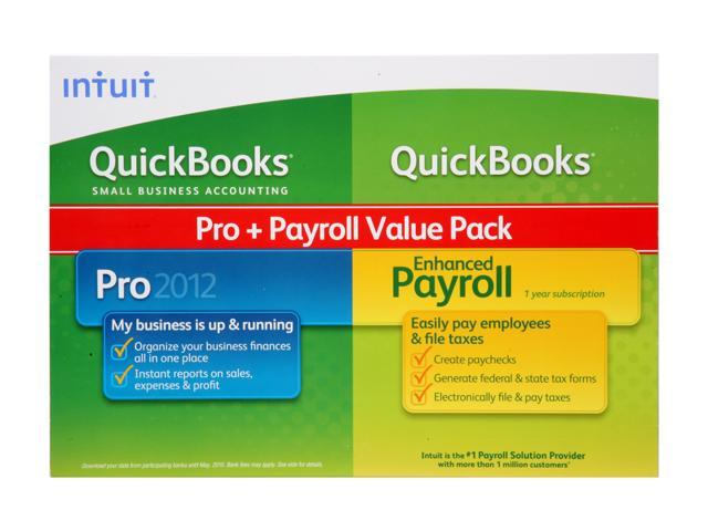 Intuit QuickBooks Professional with QuickBooks Enhanced Payroll 2012