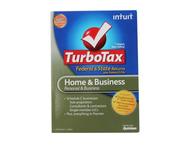 Intuit Turbotax Home And Business Federal State Efile