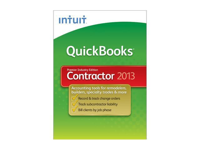 Intuit Quickbooks Premier Contractor 2013