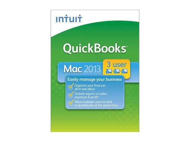 Intuit Quickbooks 2013 for Mac 3 Users