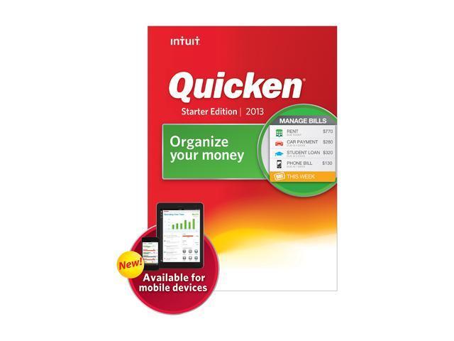 Intuit Quicken Starter Edition 2013